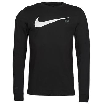 material Men Long sleeved shirts Nike M NSW TEE LS GRX TEE Black