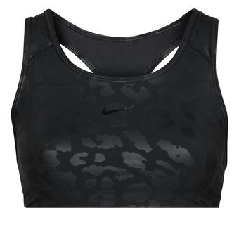 material Women Sport bras Nike W NP DF SWSH LEPARD SHINE BRA Black