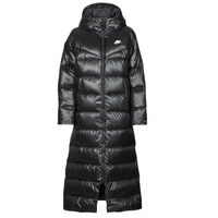 material Women Duffel coats Nike W NSW TF CITY HD PARKA Black / White