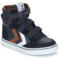 Shoes Children High top trainers Hummel STADIL PRO JR Blue / Brown