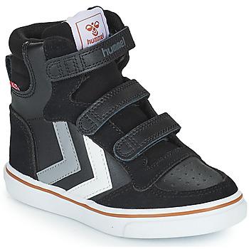 Shoes Children High top trainers Hummel STADIL PRO JR Black / Grey