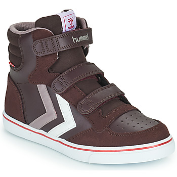 Shoes Girl High top trainers Hummel STADIL PRO JR Bordeaux