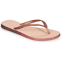 Shoes Women Flip flops Havaianas SLIM SPARKLE II Pink