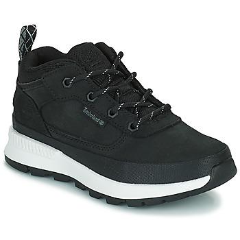 Shoes Children High top trainers Timberland FIELD TREKKER LOW Black