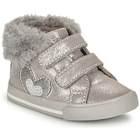 Shoes Girl High top trainers Chicco GLAM Grey