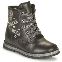 Shoes Girl Mid boots Chicco CIPRY Black / Silver