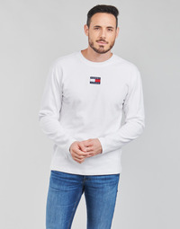 material Men Long sleeved shirts Tommy Jeans TJM LS TOMMY BADGE TEE White