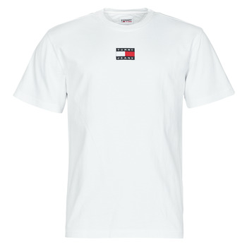 material Men short-sleeved t-shirts Tommy Jeans TJM TOMMY BADGE TEE White