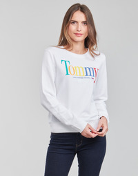 material Women sweaters Tommy Jeans TJW REGULAR COLOR TOMMY CREW White
