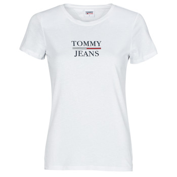 material Women short-sleeved t-shirts Tommy Jeans TJW SKINNY ESSENTIAL TOMMY T SS White