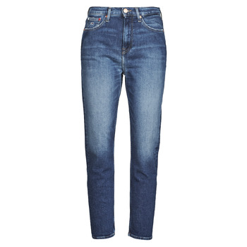 material Women straight jeans Tommy Jeans IZZIE HR SLIM ANKLE AE632 MBC Marine