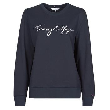 material Women sweaters Tommy Hilfiger REGULAR GRAPHIC C-NK SWEATSHIRT Marine