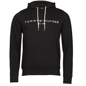 material Men sweaters Tommy Hilfiger TOMMY LOGO HOODY Black