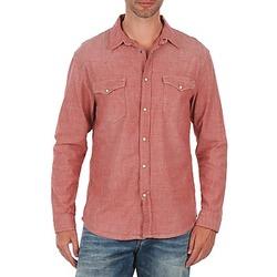 material Men long-sleeved shirts Selected Doha shirt ls r J Red