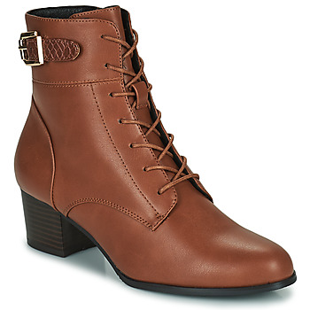 Shoes Women Ankle boots The Divine Factory LH2059 Camel