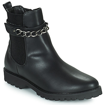 Shoes Women Mid boots The Divine Factory LH2274 Black