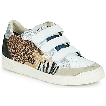 Shoes Women Low top trainers Serafini SAN DIEGO White / Silver / Leopard