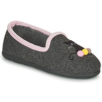Shoes Women Slippers Isotoner 97311 Grey / Pink
