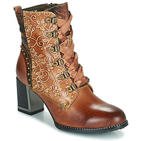 Shoes Women Ankle boots Laura Vita KACIO Brown