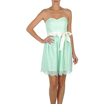 material Women Short Dresses Morgan RORT Green