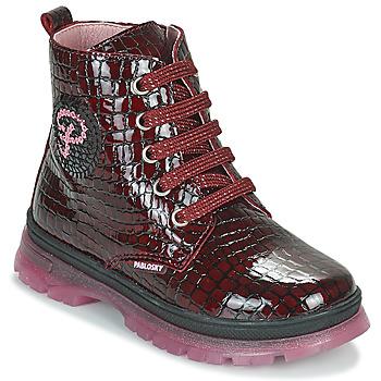Shoes Girl Mid boots Pablosky 404167 Bordeaux