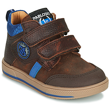 Shoes Boy Mid boots Pablosky 503593 Brown / Blue