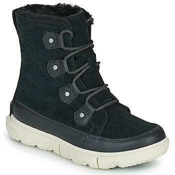 Shoes Women Mid boots Sorel SOREL EXPLORER II JOAN FAUX FUR Black