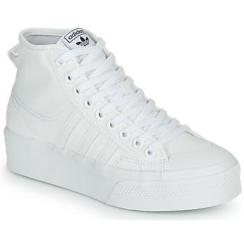 Shoes Women High top trainers adidas Originals NIZZA PLATFORM MID White