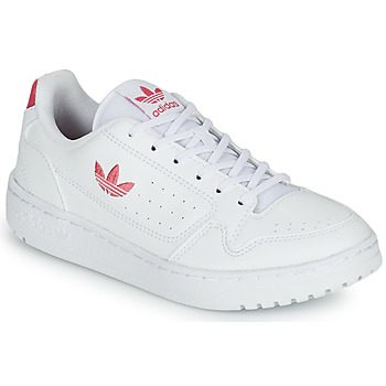 Shoes Girl Low top trainers adidas Originals NY 90 J White / Pink