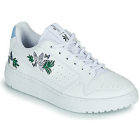 Shoes Girl Low top trainers adidas Originals NY 90 J White / Violet