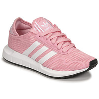 Shoes Girl Low top trainers adidas Originals SWIFT RUN X J Pink / White
