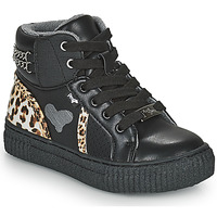 Shoes Girl High top trainers Primigi GIRL ALPHA Black / Leopard