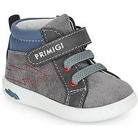 Shoes Boy High top trainers Primigi BABY LIKE Grey / Blue