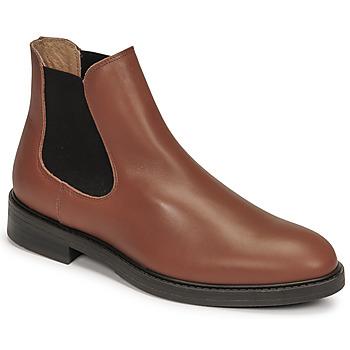 Shoes Men Mid boots Selected CHELSEA Cognac