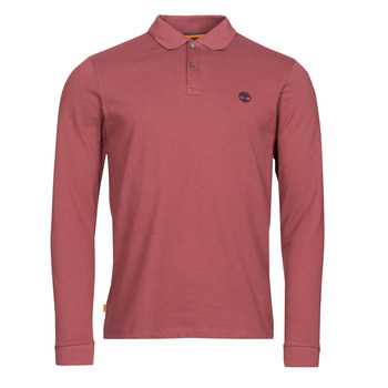 material Men long-sleeved polo shirts Timberland LS MR POLO SLIM Bordeaux