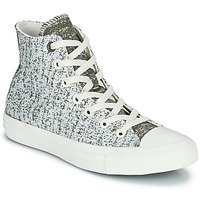 Shoes Women High top trainers Converse CHUCK TAYLOR ALL STAR HYBRID TEXTURE HI Grey