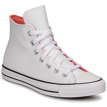 Shoes Women High top trainers Converse CHUCK TAYLOR ALL STAR HYBRID SHINE HI White / Pink