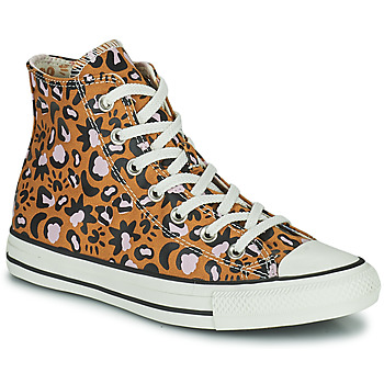 Shoes Women High top trainers Converse CHUCK TAYLOR ALL STAR MYSTIC WORLD HI Mustard / Pink