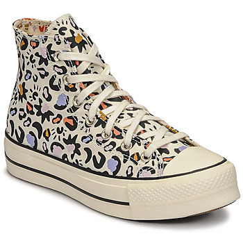Shoes Women High top trainers Converse CHUCK TAYLOR ALL STAR LIFT MYSTIC WORLD HI White / Multicolour