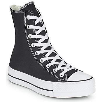 Shoes Women High top trainers Converse CHUCK TAYLOR ALL STAR LIFT CORE CANVAS X-HI Black