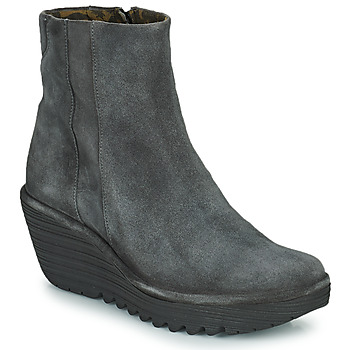 Shoes Women Ankle boots Fly London YULU Grey