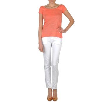 material Women slim jeans Calvin Klein Jeans JEAN BLANC BORDURE ARGENTEE White