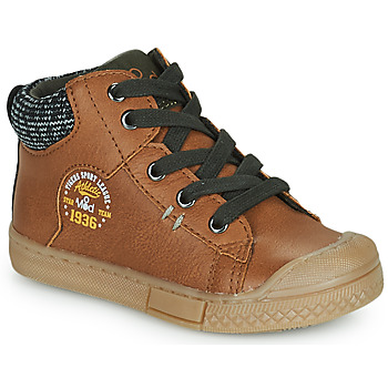 Shoes Boy High top trainers Mod'8 HERMIAN Cognac