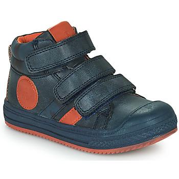 Shoes Boy High top trainers Mod'8 TALYE Marine / Orange