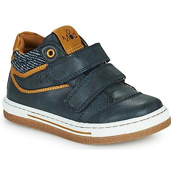 Shoes Boy High top trainers Mod'8 KYNATOL Marine / Mustard