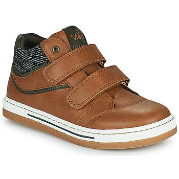 Shoes Boy High top trainers Mod'8 KYNATOL Cognac