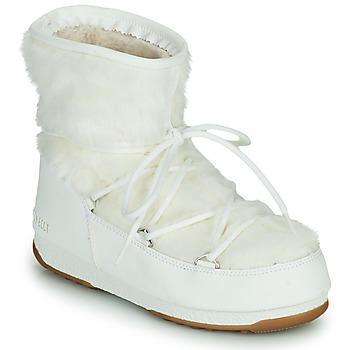Shoes Women Snow boots Moon Boot MOON BOOT MONACO LOW FUR WP 2 White