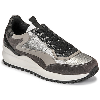 Shoes Women Low top trainers Ikks  Grey / Silver