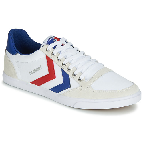 Shoes Men Low top trainers Hummel TEN STAR LOW CANVAS White / Red / Blue