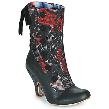 Shoes Women Ankle boots Irregular Choice REINETTE Black / Red